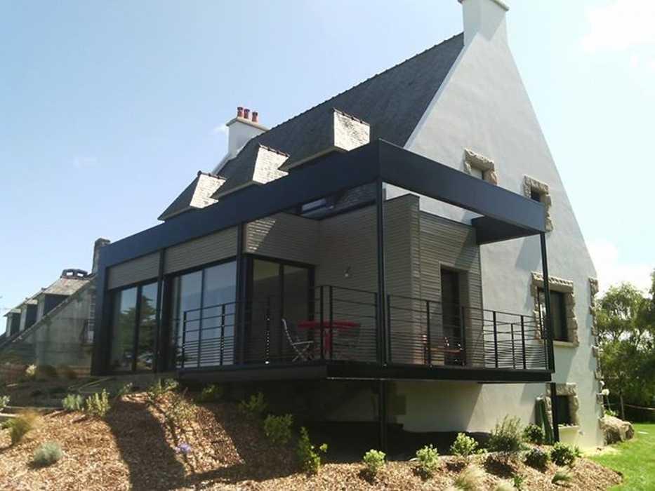 Agrandissement ossature bois et métal - terrasse suspendue 0
