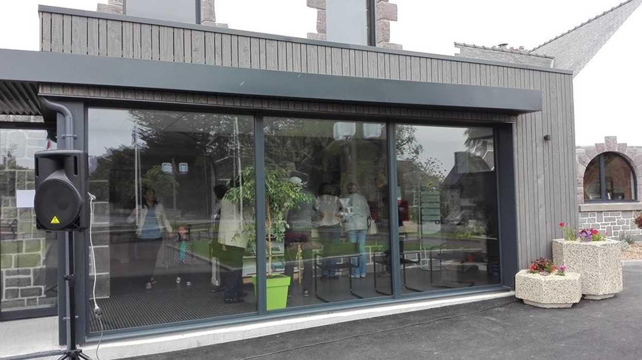 Extension bois Mairie Hénanbihen 0