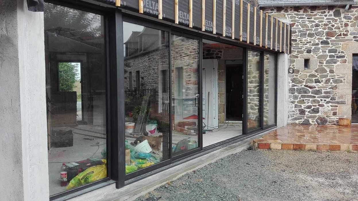 Extension en bois d''une maison d''habitation en pierre - Pléboulle 1425813511060931661241148448645097026699036o