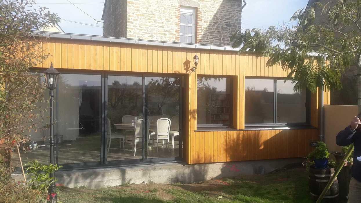 Extension d''une maison en bardage bois à Matignon 20191114121123resized