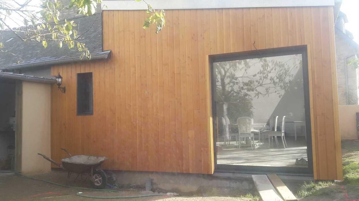 Extension d''une maison en bardage bois à Matignon 20191114121139resized